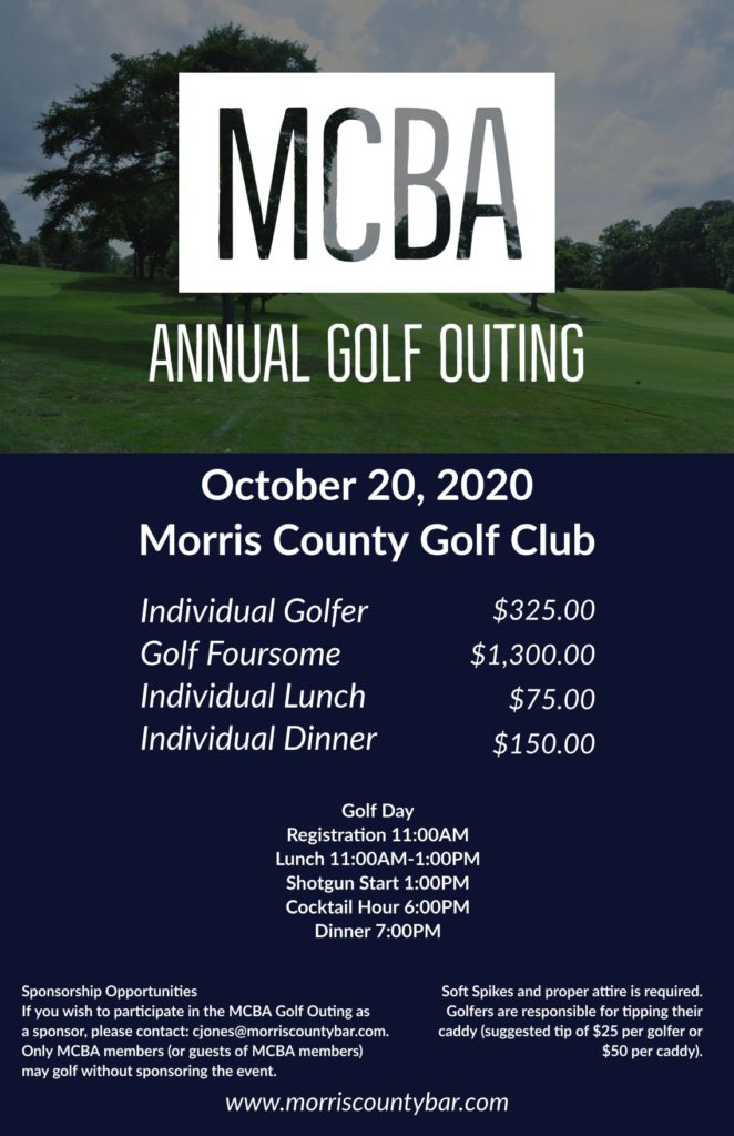 2020 MCBA Golf Outing Flyer Email
